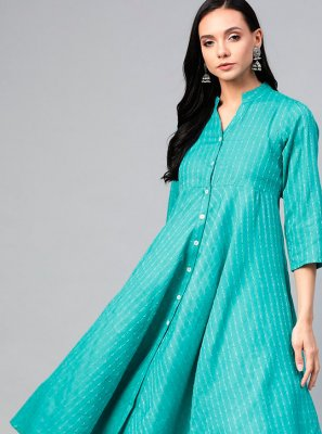 Rama Cotton Party Wear Kurti