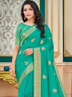 Rama Cotton Silk Festival Traditional Saree