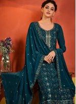 Rama Designer Palazzo Salwar Suit