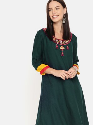 Rama Embroidered Designer Kurti