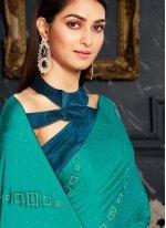 Rama Fancy Fabric Classic Designer Saree