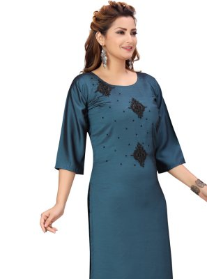 Rama Fancy Party Wear Kurti