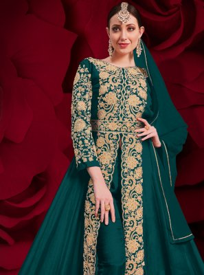 Rama Faux Georgette Anarkali Suit