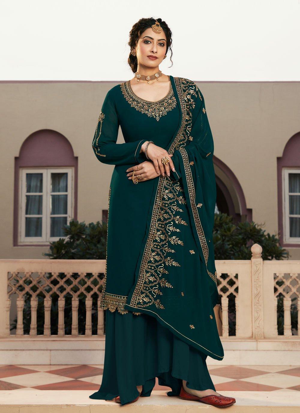 Rama Faux Georgette Designer Pakistani Suit