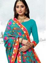 Rama Festival Faux Georgette Trendy Saree