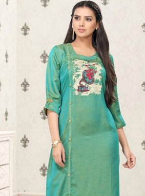 Rama Print Festival Party Wear Kurti