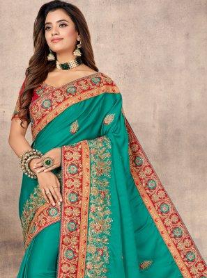Rama Resham Classic Designer Saree
