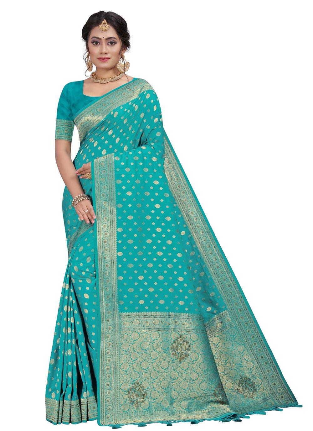 Rama Silk Engagement Traditional Saree