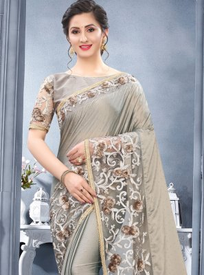 Rangoli Grey Resham Traditional Designer Saree