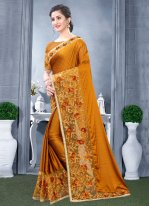 Rangoli Resham Mustard Traditional Designer Saree