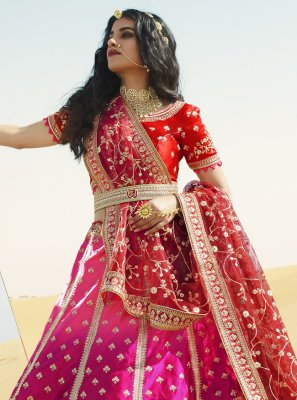 Rani and Red Engagement A Line Lehenga Choli