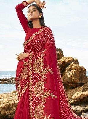 Rani Art Silk Embroidered Designer Traditional Saree