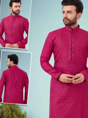Rani Color Kurta Pyjama