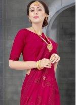 Rani Color Traditional Designer Saree