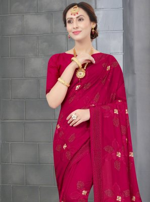 Rani Color Traditional Designer Saree