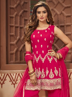Rani Faux Georgette Festival Readymade Suit