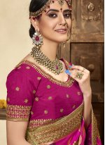 Rani Patch Border Banarasi Silk Designer Traditional Saree