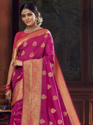 Rani Silk Sangeet Traditional Designer Saree
