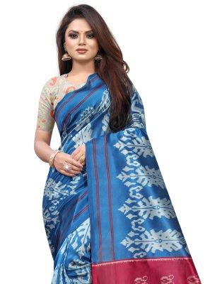 Raw Silk Casual Traditional Saree