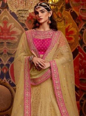Raw Silk Sangeet Lehenga Choli