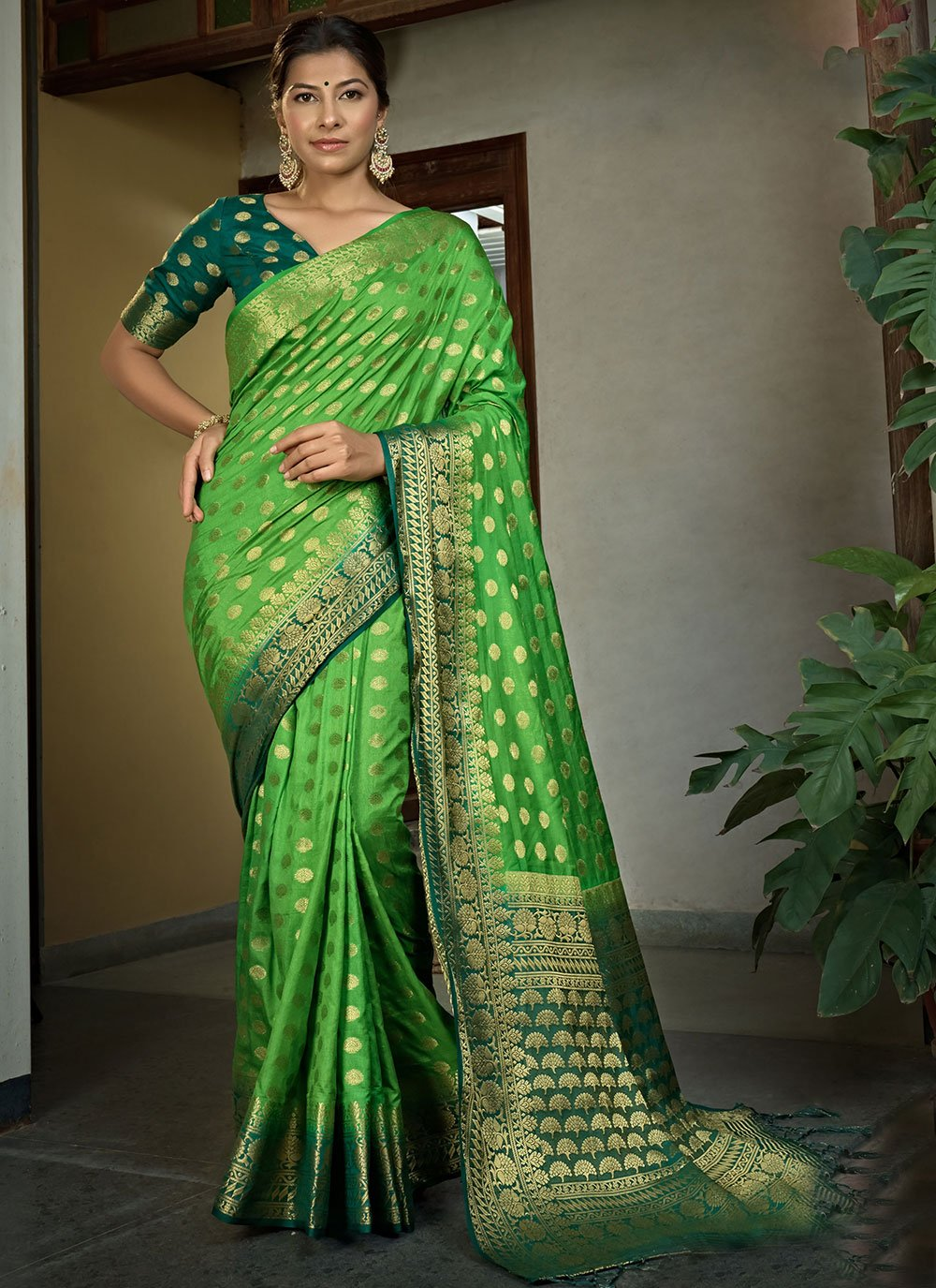 Raw Silk Wedding Bollywood Saree