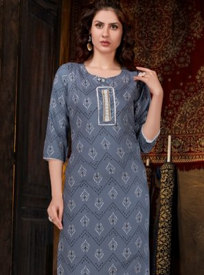 Rayon Casual Party Wear Kurti