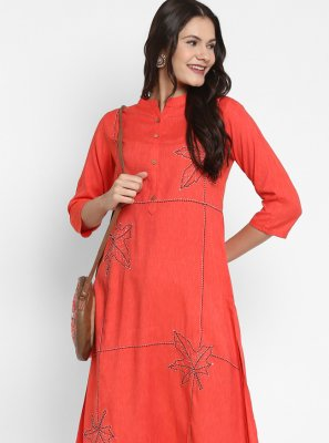 Rayon Handwork Party Wear Kurti