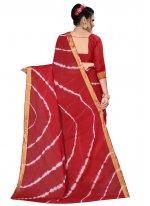 Red Art Silk Printed Saree