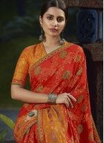 Red Brasso Festival Trendy Saree