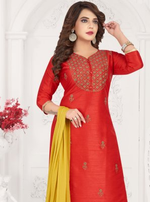 Red Ceremonial Designer Salwar Kameez