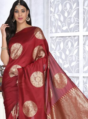 Red Ceremonial Designer Traditional Saree
