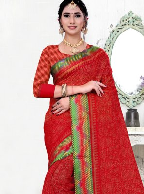 Red Color Bollywood Saree