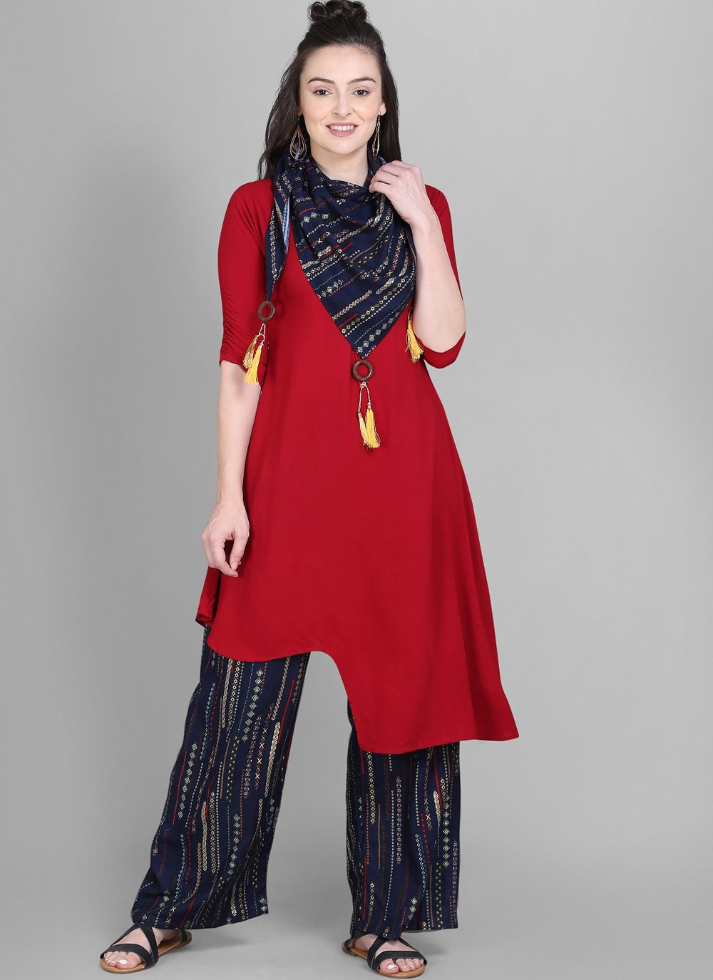 Red Color Designer Kurti