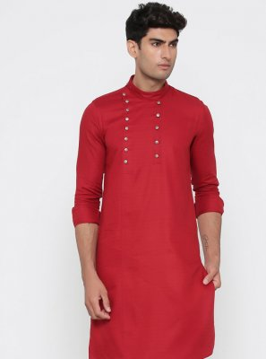 Red Color Kurta Pyjama