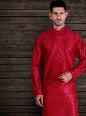 Red Engagement Kurta Pyjama