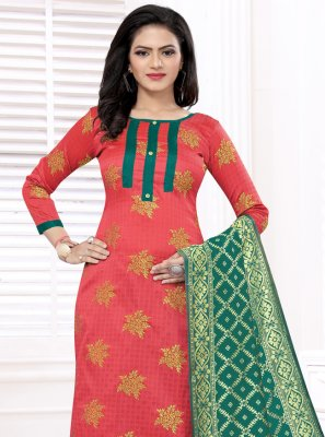 Red Festival Churidar Designer Suit