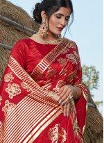 Red Festival Silk Bollywood Saree