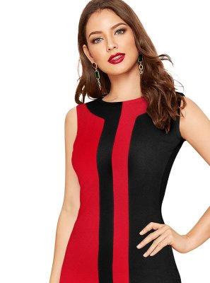 Red Party Party Wear Kurti