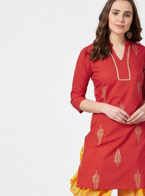 Red Party Wear Kurti