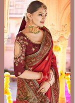 Red Sangeet Traditional Designer Saree