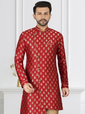 Red Silk Party Indo Western