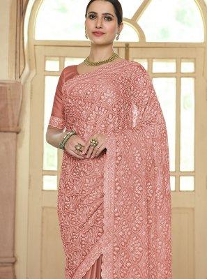Resham Brown Trendy Saree
