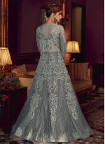Resham Floor Length Anarkali Salwar Suit