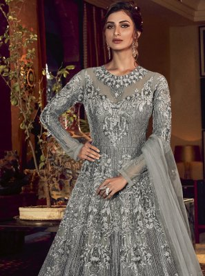 Resham Floor Length Anarkali Salwar Suit