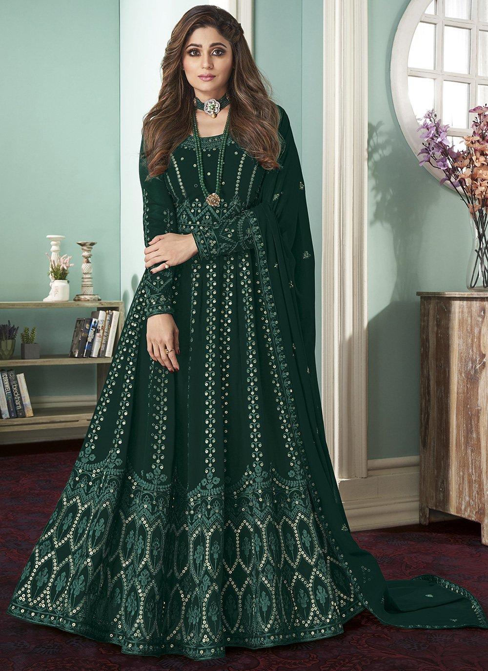 Resham Georgette Bollywood Salwar Kameez