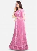 Resham Pink A Line Lehenga Choli