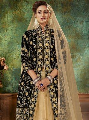 Resham Sangeet Designer Long Lehenga Choli