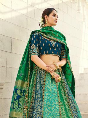 Resham Sea Green Lehenga Choli