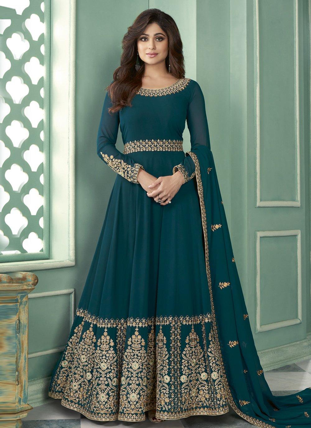 Resham Shamita Shetty Designer Suit