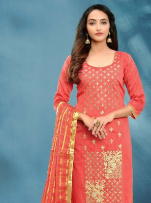 Rose Pink Festival Churidar Salwar Suit